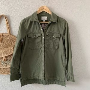 Forever 21 Embroidered Love Story Utility Jacket